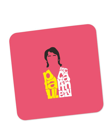 Buy Coasters Online | Paul Mccartney Typography | Beatles Coaster Online India | PosterGuy.in