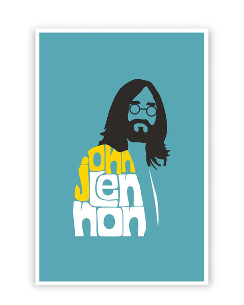 Posters Online | John Lennon Typography | Beatles Poster Online India | Designed by: Design Walrus