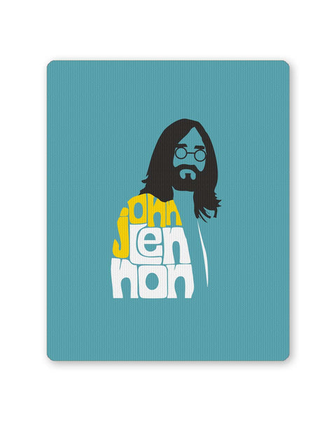 Buy Mousepads Online India | John Lennon Typography | Beatles Mouse Pad Online India