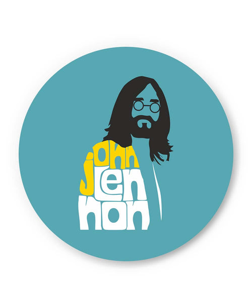 PosterGuy | John Lennon Typography | Beatles Fridge Magnet Online India by Design Walrus