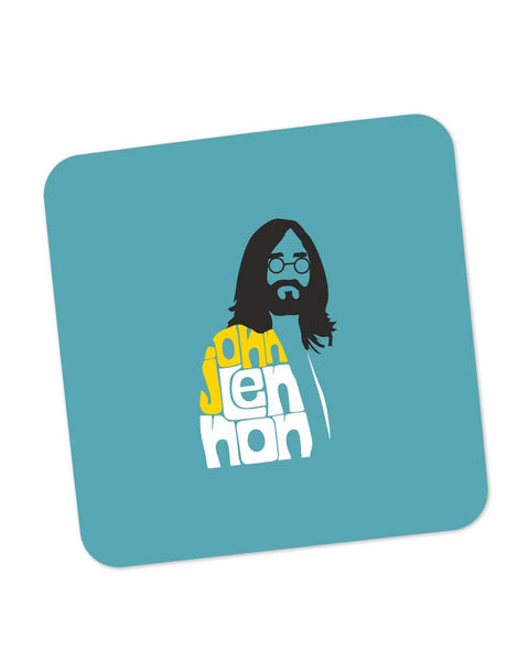 Buy Coasters Online | John Lennon Typography | Beatles Coaster Online India | PosterGuy.in