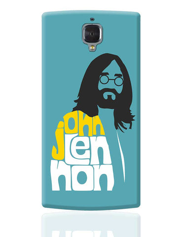 John Lennon Typography | Beatles OnePlus 3 Cover Online India