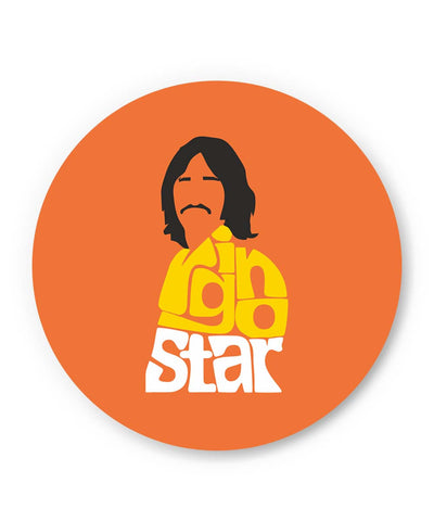 PosterGuy | Ringo Star Typography | Beatles Fridge Magnet Online India by Design Walrus