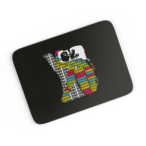 John Lennon Kissing Yoko Ono | Beatles A4 Mousepad Online India