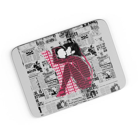John Lennon And Yoko Ono Kissing | Beatles A4 Mousepad Online India