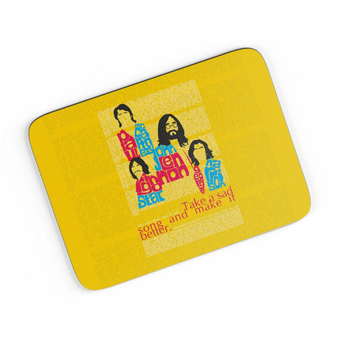 Beatles| Take a Sad Song and Make It Better Typography A4 Mousepad Online India