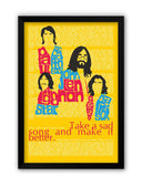 Framed Posters | Beatles| Take a Sad Song and Make It Better Typography Laminated Framed Poster Online India