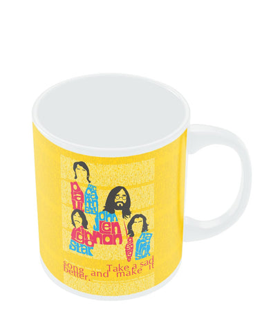 Coffee Mugs Online | Beatles| Take a Sad Song and Make It Better Typography Mug Online India