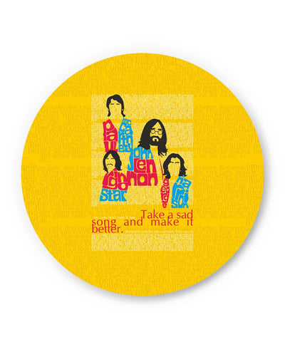 PosterGuy | Beatles| Take a Sad Song and Make It Better Typography Fridge Magnet Online India by Design Walrus