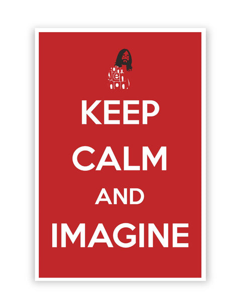 Posters Online | Keep Calm and Imagine | John Lennon Poster Online India | Designed by: Design Walrus
