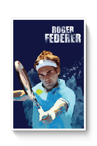 Posters Online | Roger Federer Art Splash Poster Online India | Designed by: Design Walrus