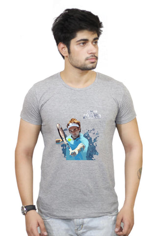 Buy Roger Federer Art Splash  T-Shirts Online India | Roger Federer Art Splash  T-Shirt | PosterGuy.in