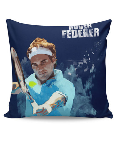 PosterGuy | Roger Federer Art Splash Cushion Cover Online India
