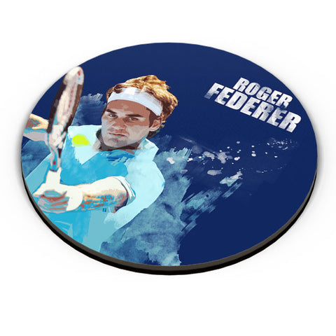 PosterGuy | Roger Federer Art Splash Fridge Magnet Online India by Design Walrus