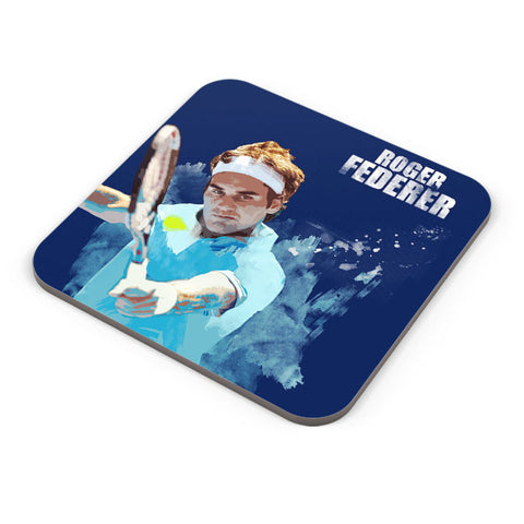 Buy Coasters Online | Roger Federer Art Splash Coaster Online India | PosterGuy.in