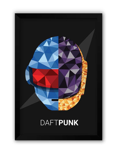 Framed Posters | Daft Punk Poly Art Illustration Laminated Framed Poster Online India