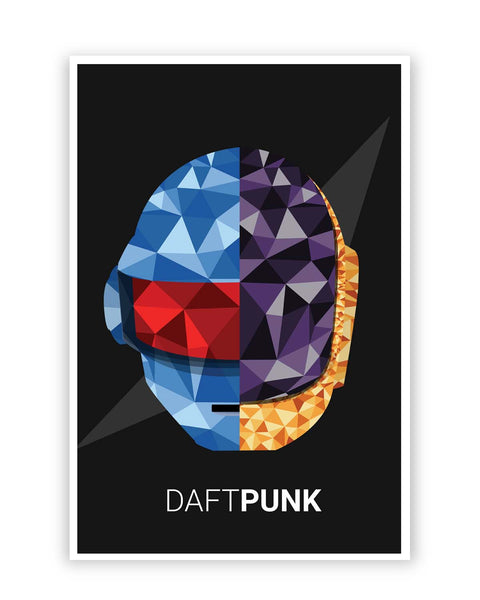 Posters Online | Daft Punk Poly Art Illustration Poster Online India | Designed by: Siladityaa Sharma