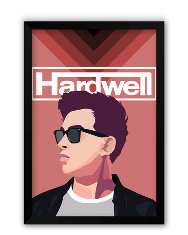 Framed Posters | Hardwell Pop Art Illustration Laminated Framed Poster Online India