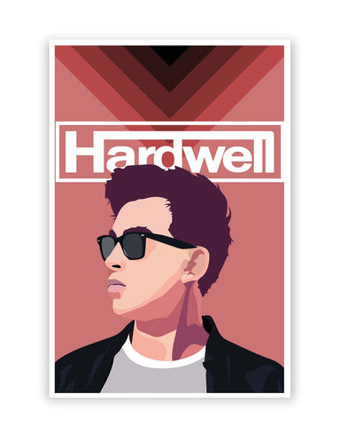 Posters Online | Hardwell Pop Art Illustration Poster Online India | Designed by: Siladityaa Sharma