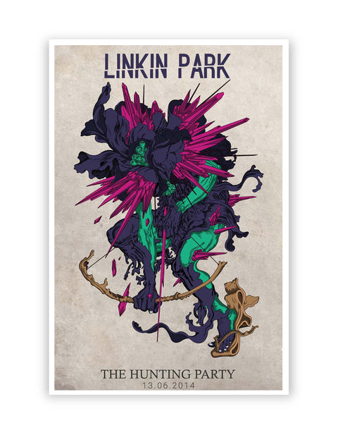 Posters Online | Linkin Park The Hunting Party Poster Online India | Designed by: Siladityaa Sharma