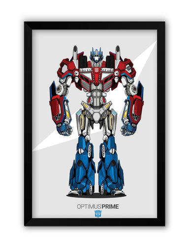 Framed Posters | Optimus Prime | Transformers Inspired Fan Art Laminated Framed Poster Online India