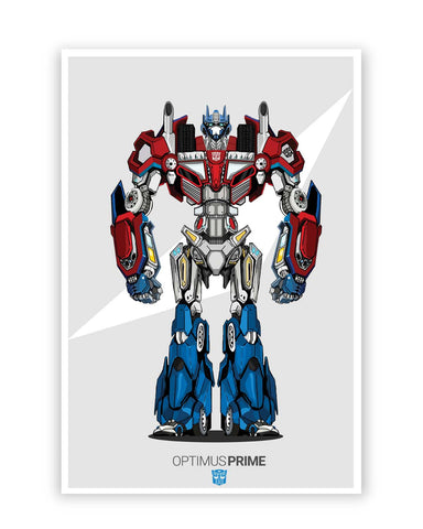 Posters Online | Optimus Prime | Transformers Inspired Fan Art Poster Online India | Designed by: Siladityaa Sharma