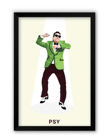 Framed Posters | Psy | Gangnam Style Graphic Illustration Laminated Framed Poster Online India
