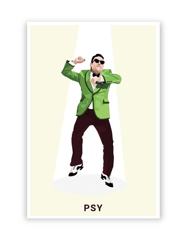 Posters Online | Psy | Gangnam Style Graphic Illustration Poster Online India | Designed by: Siladityaa Sharma