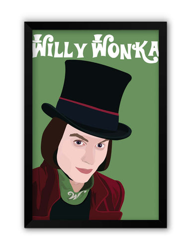 Framed Posters | Willy Wonka |Johnny Depp Animated Laminated Framed Poster Online India