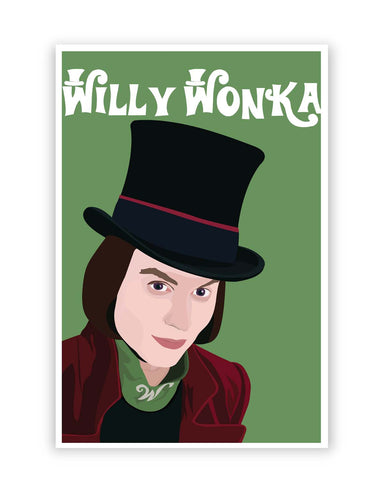 Posters Online | Willy Wonka |Johnny Depp Animated Poster Online India | Designed by: Siladityaa Sharma