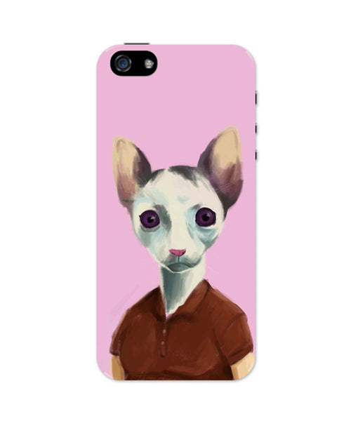 iPhone 5 / 5S Cases & Covers | Cat Lady Art Illustration iPhone 5 / 5S Case Online India