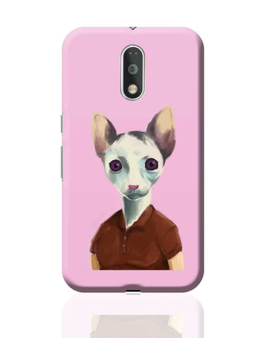 Cat Lady Art Illustration Moto G4 Plus Online India