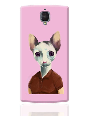 Cat Lady Art Illustration OnePlus 3 Cover Online India