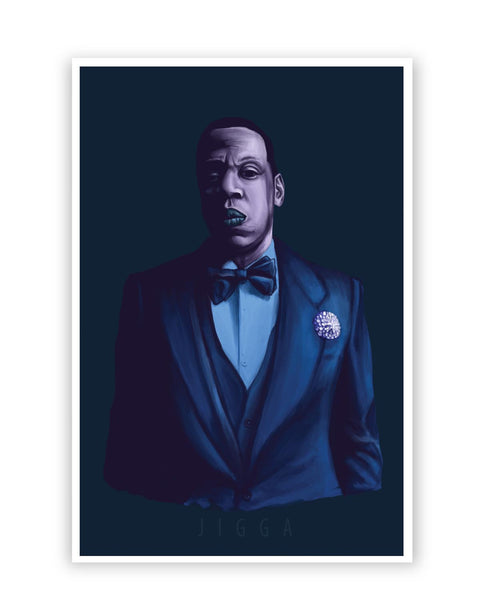 Posters Online | Jay- Z Purple Shade Poster Online India | Designed by: Jayman Artworks
