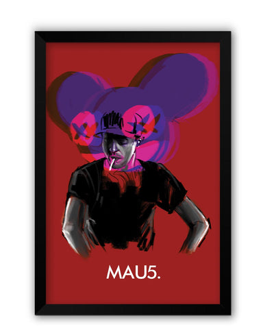 Framed Posters | Dead Mau5 (Mouse) Laminated Framed Poster Online India