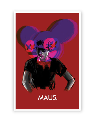 Posters Online | Dead Mau5 (Mouse) Poster Online India | Designed by: Jayman Artworks
