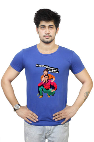 Buy Funny T-Shirts Online India | Andaz Apna Apna | Aamir Khan Salman Khan T-Shirt Funky, Cool, T-Shirts | PosterGuy.in