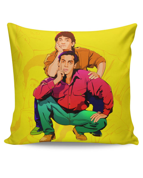 PosterGuy | Andaz Apna Apna Aamir Khan Salman Khan Do Dost Ek Pyaale Quote Cushion Cover Online India