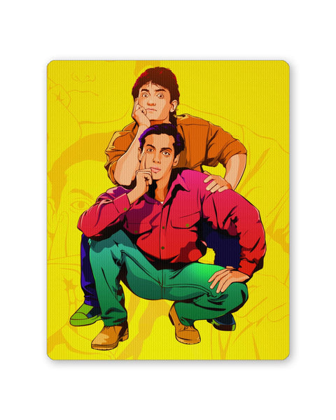Buy Mousepads Online India | Andaz Apna Apna Aamir Khan Salman Khan Do Dost Ek Pyaale Quote Mouse Pad Online India