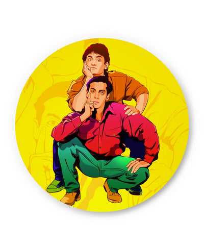 PosterGuy | Andaz Apna Apna Aamir Khan Salman Khan Do Dost Ek Pyaale Quote Fridge Magnet Online India by Hitesh Sharma