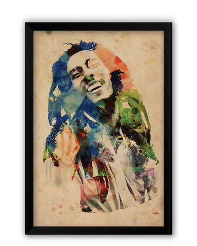 Framed Posters | Bob Marley Digital Art Laminated Framed Poster Online India