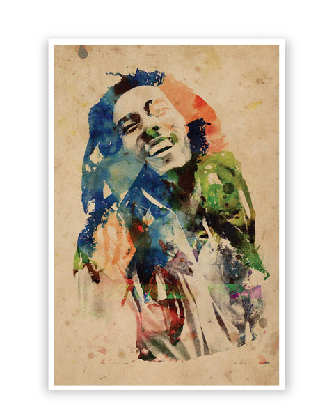 Posters Online | Bob Marley Digital Art Poster Online India | Designed by: Hitesh Sharma