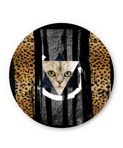 PosterGuy | Cat in Trance Prism Fridge Magnet Online India by Hitesh Sharma