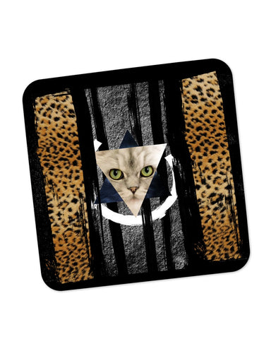 Buy Coasters Online | Cat in Trance Prism Coaster Online India | PosterGuy.in