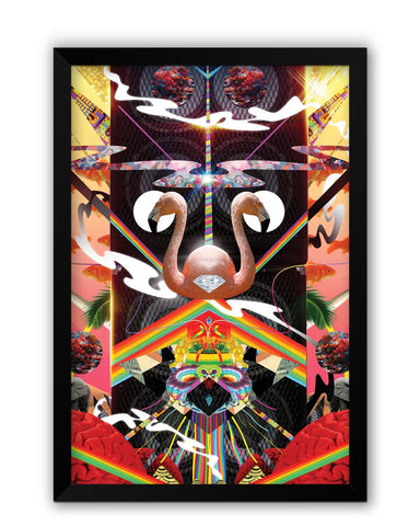 Framed Posters | The World of Psychedelic Stuff Laminated Framed Poster Online India
