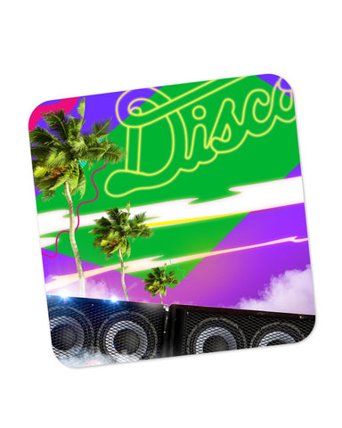 Buy Coasters Online | The Abstract Vacation Disco Coaster Online India | PosterGuy.in