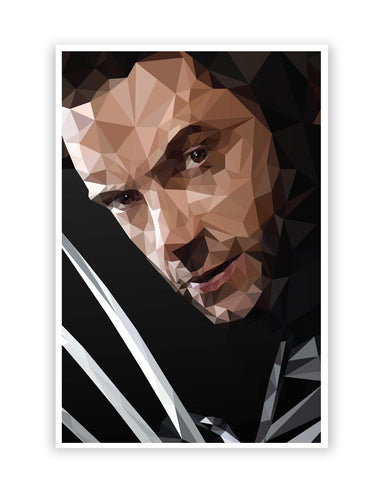Posters Online | Hugh Jackman Wolverine inspired Fan Art Poster Online India | Designed by: Abhishek Aggarwal