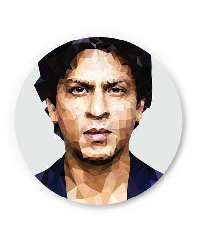 PosterGuy | Shahrukh Khan Low Poly Art Fridge Magnet Online India by Abhishek Aggarwal