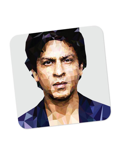 Buy Coasters Online | Shahrukh Khan Low Poly Art Coaster Online India | PosterGuy.in
