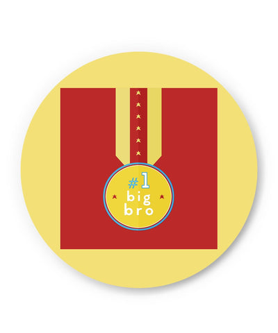 PosterGuy | No. 1 Big Bro Fridge Magnet Online India by Progya Sengupta